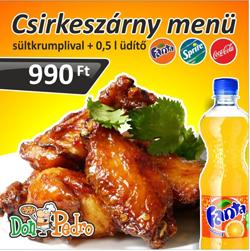 Csirkeszárny Menü