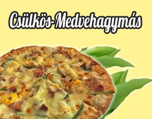 csülkös medvehagymás pizza